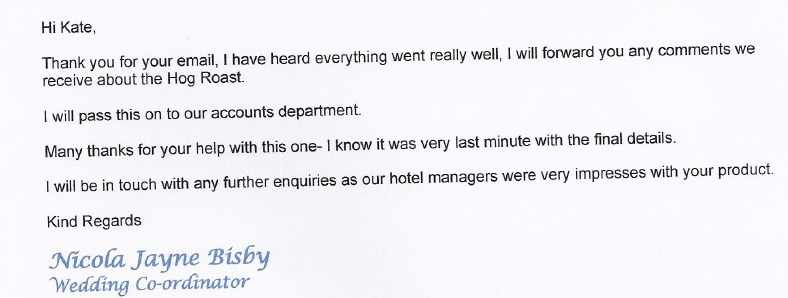 catering review